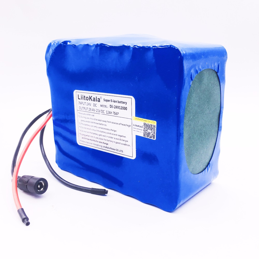 HK Liitokala 7s6p 29.4 V 12Ah batterie au lithium vélo électrique 29.4 V Li ion batterie pas compris 29.4 v chargeur