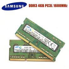 Samsung 4g pc3l 12800s 1rx8 pc3l 1600 s ddr3 12800 mhz 4gb memória do portátil 4g pc3l 1600 s mhz notebook módulo sodimm ram