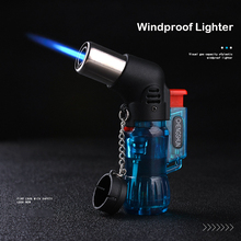 Mini Butaan Jet Winddicht Gasaansteker Turbo Willekeurige Kleur Plastic Fire Ontsteking Sigaar Pijp Keuken Aansteker Outdoor