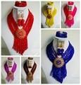 Traje de la Boda Africana de Nigeria Beads Africanos Joyería Conjunto Cristal ABF718 Perlas de La Joyería Nupcial Fija El Envío Libre