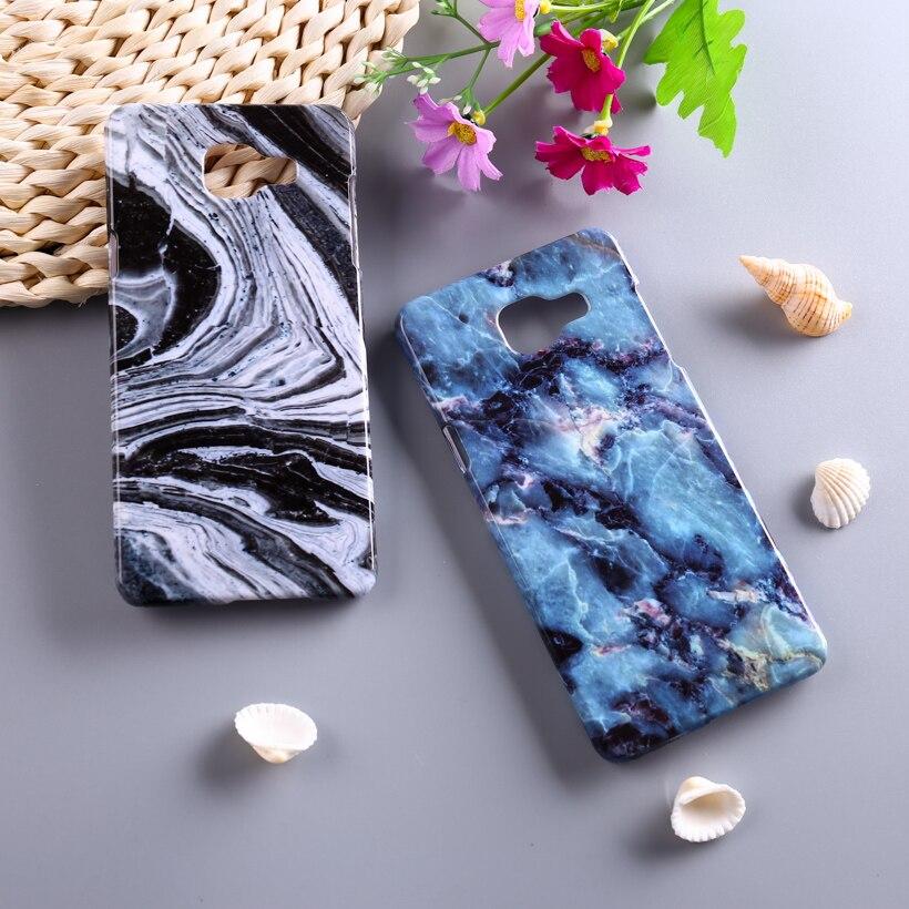 Piedra de mármol cajas del teléfono de plástico para samsung galaxy a5  sm-a510f