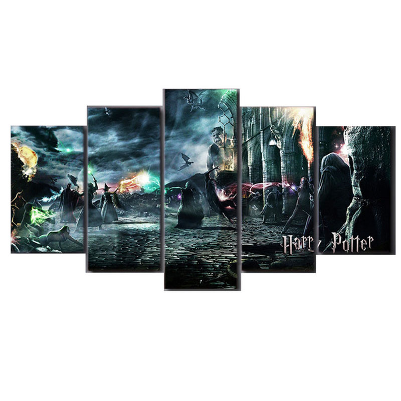 5pcs 5D Harry Potter Character Picture Diy Diamond Embroidery square diamond painting cross stitch Mosaic home decor gift ZP-045