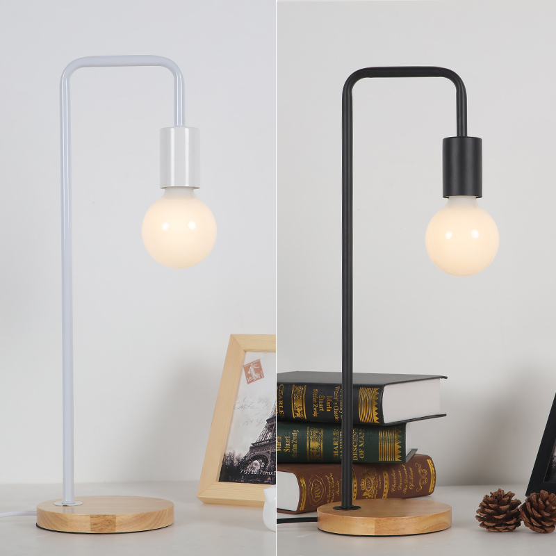 Modern led Desk Lamp Study Office Iron Art Desk Light Bedroom Lamp Creative Personality Simple Modern led Table Lamp Table Light bedroom table lamp modern simple wood stand table lamp with fabric lamp shade desk lamp study lamparas kumastb