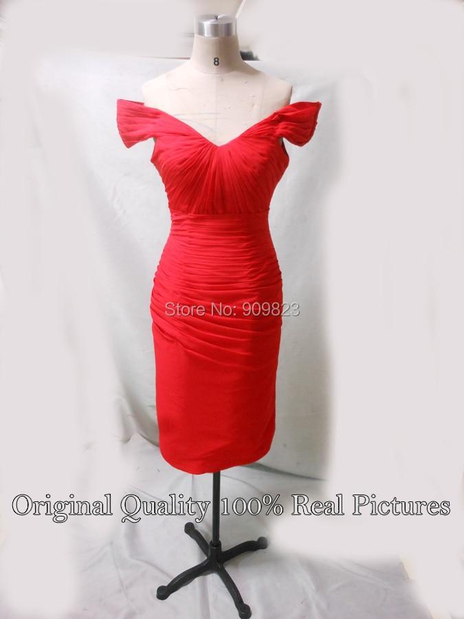 d9284ece6221 Mila Kunis off-the-shoulder with pleated bodice tea length cocktail dresses  Red celebrity dresses. DSCN6182 DSCN6189. Please choose the color from the  color ...