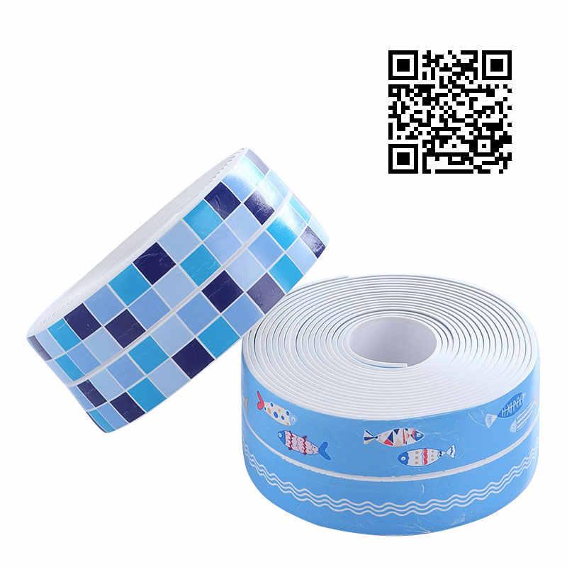 Vanzlife fita adesiva à prova de oídio cozinha decoração pia do banheiro à prova dwaterproof água tiras de costura cola canto beleza adesivos de parede