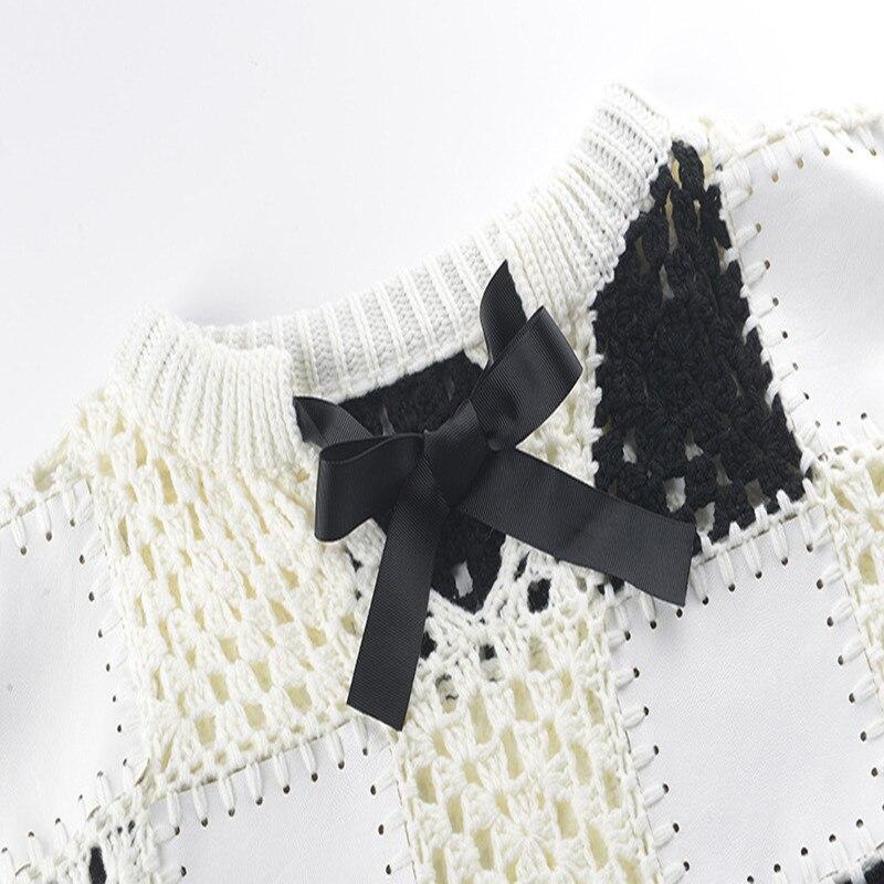 Sruilee Tassel Gamme Nouveau Chandail Automne Haut White Arc Jumper Piste Évider De En Tops Mignon Tricot Hiver Femmes Pulls Lâche 2018 r00wP