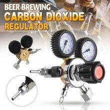 СО2 газовый регулятор для бутылки углекислого газа СО2 регуляторы давления редуктор для напитков пива W21.8 двойной измерительный прибор регулятор