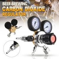 NEW CO2 Gas Bottle Regulator Carbon Dioxide CO2 Regulators Pressure Reducer For Beverage Beer W21.8 Double Gauge Regulator