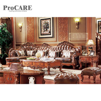 luxury L shaped sectional antique leather sofa sets A941B