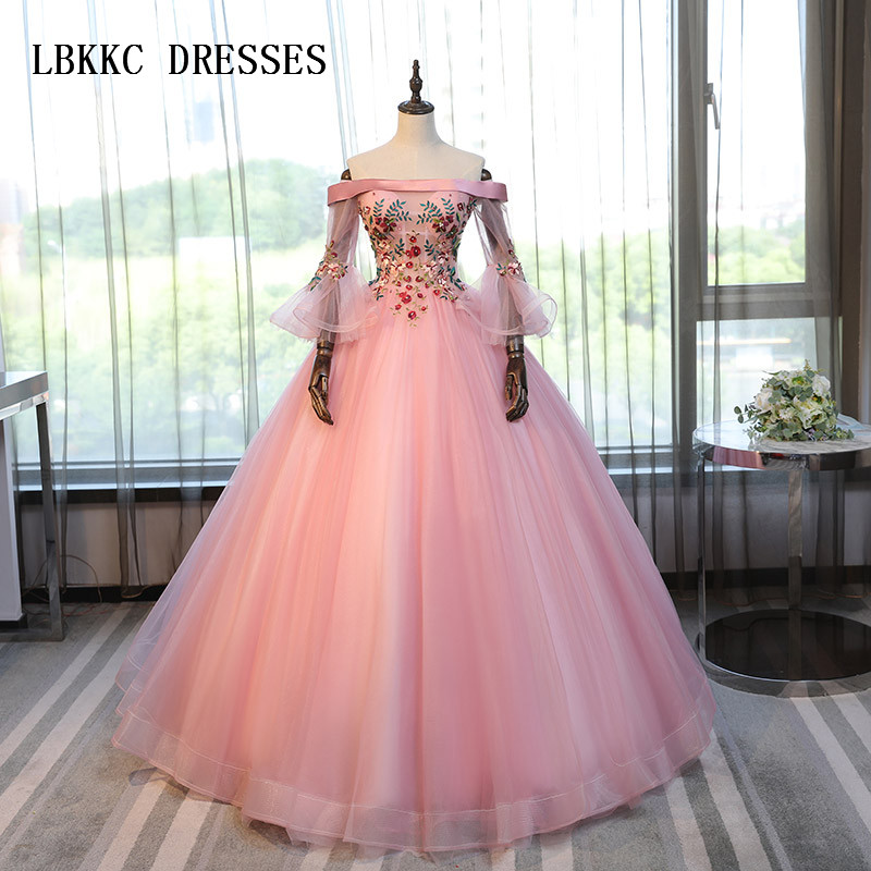 Pink Quinceanera Dresses Tulle With Colorful Lace Masquerade Sweet 16 Dresses Ball Gowns Vestidos De 15 Anos Sweet 16 Dresses Strengthening Waist And Sinews