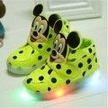 Hot bebê treinador luminosa luz marca tenis sneaker meninos meninas botas crianças shoes desenhos animados kid casual shoes sapatilhas das crianças