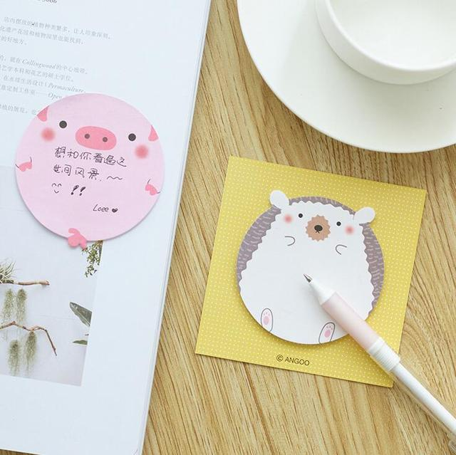 crazy office supplies. Crazy Animal Pig Seals Panda Hedgehog Memo Pad Sticky Notes Notepad School Office Supply Escolar Supplies