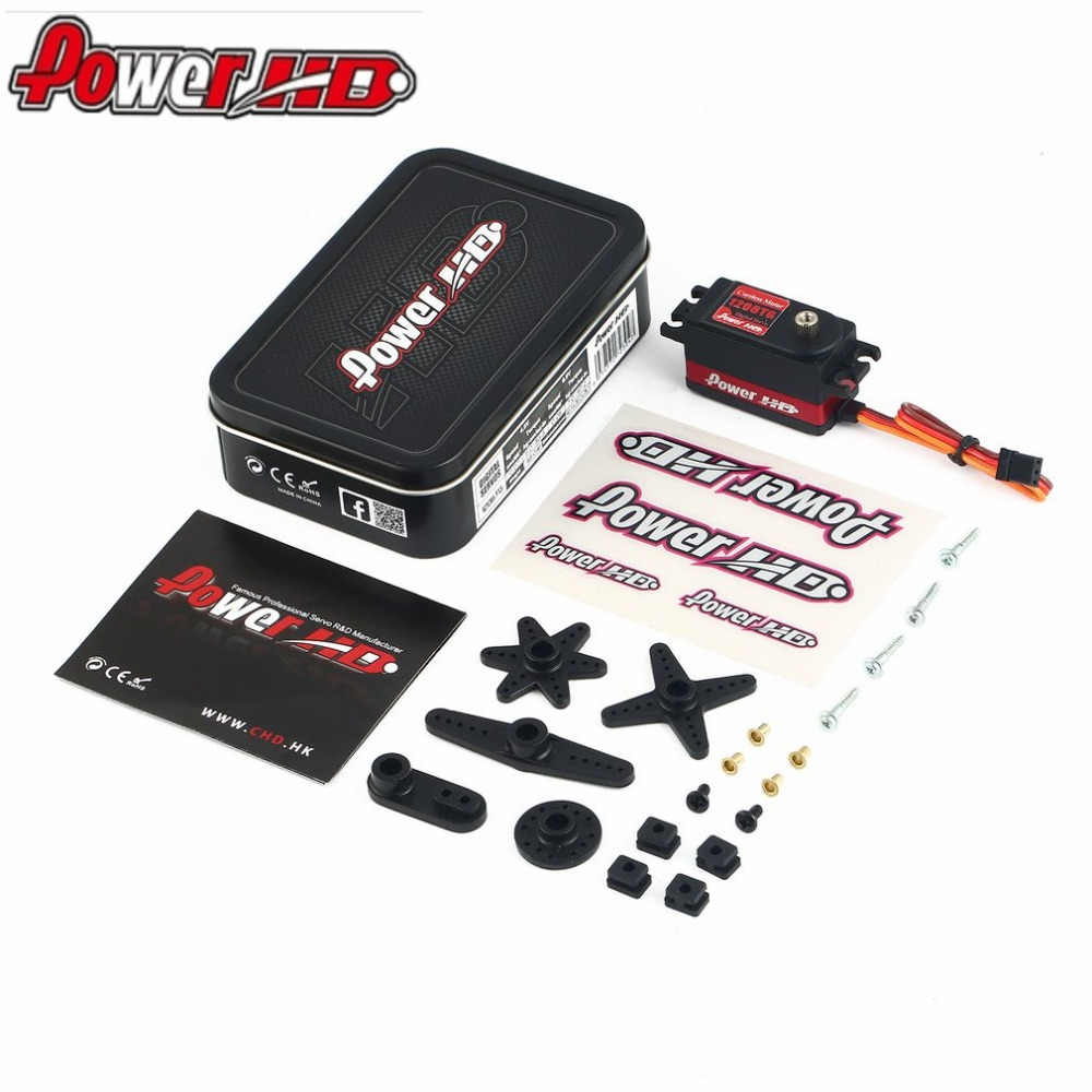 hot! POWER HD 1206TG Aluminum Metal Gear Digital Servo with 7kg High Torque for RC Car Robot Airplane Fixed Wing Aircraft Drone 1pcs power hd 8315tg 16kg high torque metal gear digital servo suitable for bigfoot car 0 16 sec 4 8v 0 14 sec 6 0v