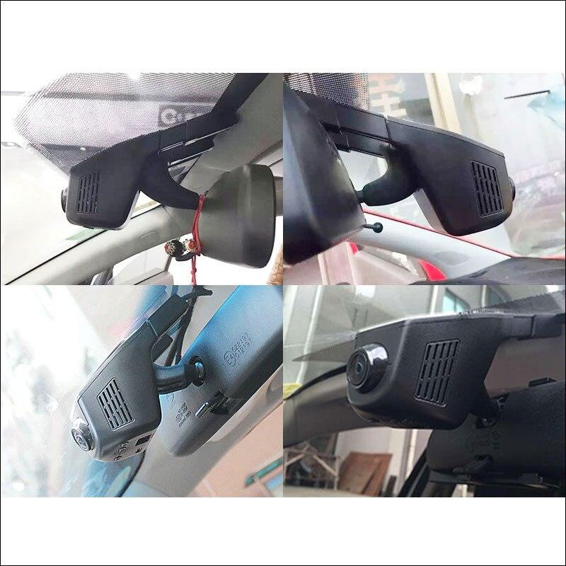 BigBigRoad APP control Car Wifi DVR For vw Golf 4 5 6  Car Parking Camera WDR 1080P Dual Camera Car Black Box camcorder bigbigroad for citroen c3 xr car parking camera app control car wifi dvr wide angle wdr 1080p dual lens car black box camcorder