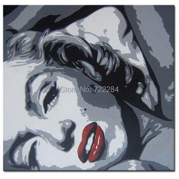 Decoraciones De Sala Marilyn Monroe | Abstracto Moderno Lienzo Pared Hecho A Mano Arte Pop Colorido Retrato Marilyn Monroe Pintura Al óleo En Lienzo Para Decoración De La Sala De Estar