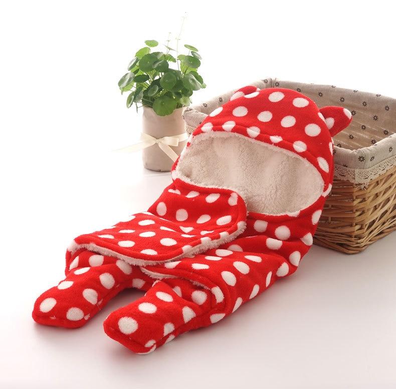 Newborn-Sleepsacks-Winter-for-Stroller-Heavy-Baby-Swaddle-Blanket-With-Star-White-Fleece-Baby-Sleeping-Bag-Bedding-Accessories-5