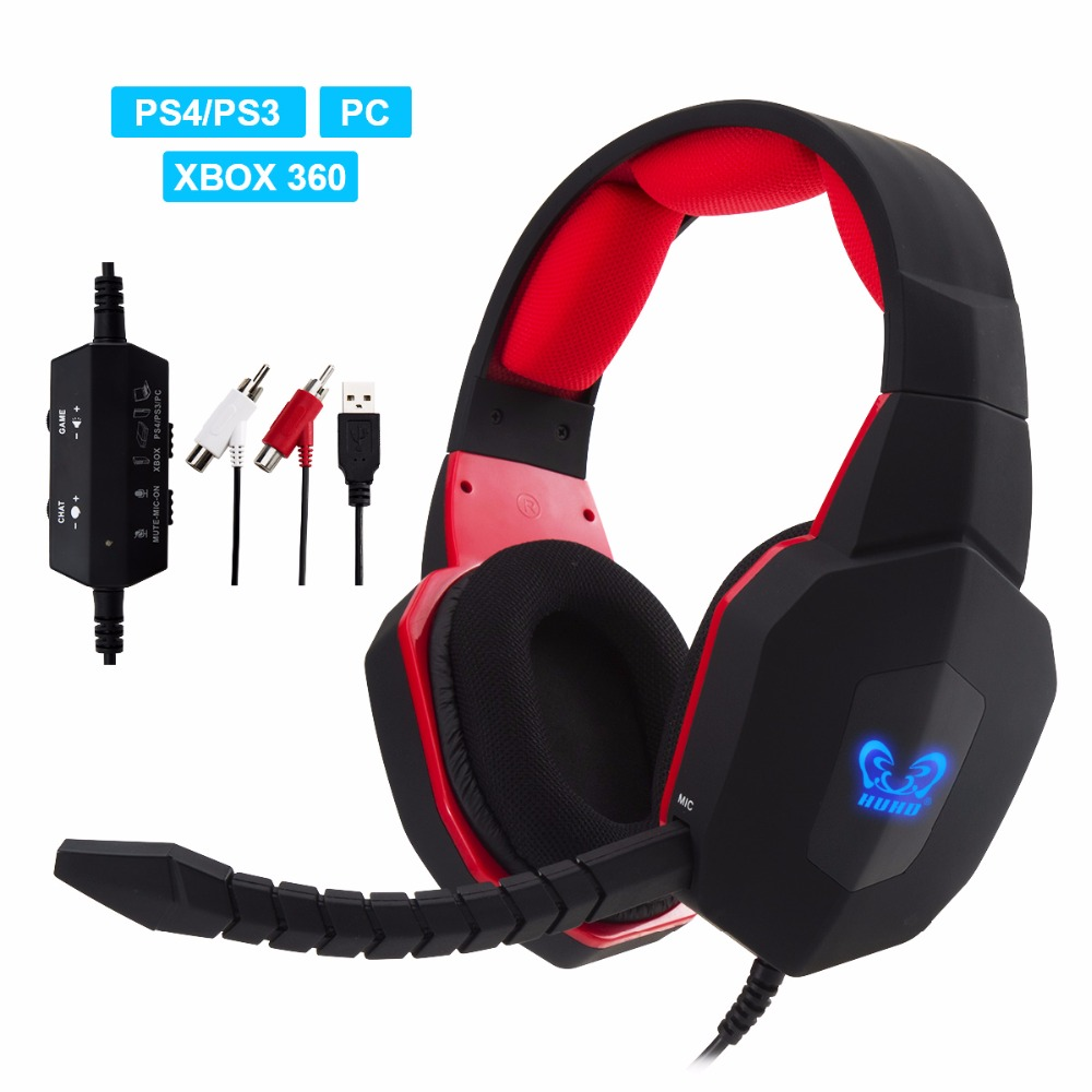 Big Sale Premium Noise Cancelling Stereo Wired Gaming HI-FI Headset/Headphones For PS4,Xbox 360,PC,Compatible With Xbox One hw 399m headset noise cancelling 2 4ghz fiber optical wireless gaming headphones with mic for xbox one xbox 360 ps4 3 pc