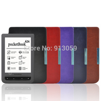 Protective Smart Leather Cover Case Skin For Pocketbook Basic Touch Lux 614 624 626 Ereader Case