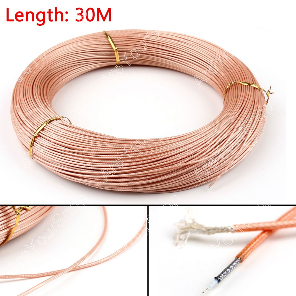 Areyourshop Sale 3000cm 50ohm M17/93-RG178 Coax Pigtail RG178 RF Coaxial Cable Connector 98ft Plug sale 3000cm rg316 rf coax coaxial cable connector 50ohm m17 113 shielded pigtail 98ft high quality wire connector adapter