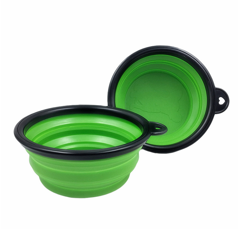 Collapsible Silicone Pet Food Bowl Portable Outdoor Travel Dog Food Container Water Drinking Bowl Dish Pet Feeding Accessories 14