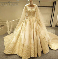 Princess Bling Luxury Beading Pearls Wedding Dress With Real Picture Custom Made Vestido De Noiva 2018