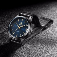 Tevise Automatic Self Wind Women Watches Mechanical Mesh Stainlees Steel Auto Date Fashion Causal Wristwatches 9017L
