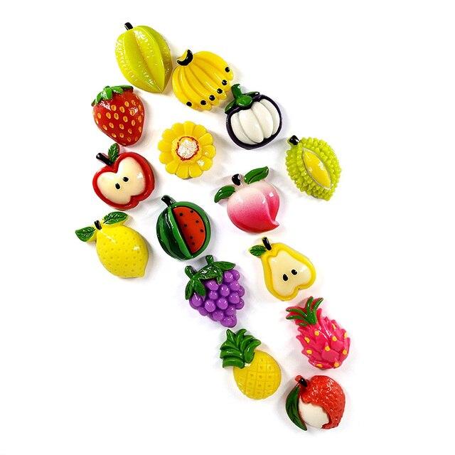 1pc Fruit Mangosteen Carambola Fridge magnet whiteboard sticker Resin Refrigerator Magnets child Home DIY Decoration Accessories 4