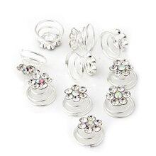 5x 10X Спираль алмаз твист Люкс Свадебные Зажим Для Волос Контактный