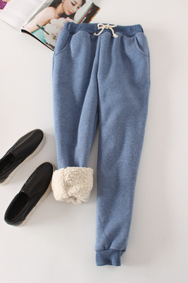 Women Pant Winter Thick Lambskin Cashmere Pants Warm Female Casual Pants Loose Harlan Pants Long Trousers Plus Size Xl YP1254 3