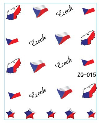 2017 20sheet lot czech republic flag world cup water decal nail accessories football serie nail