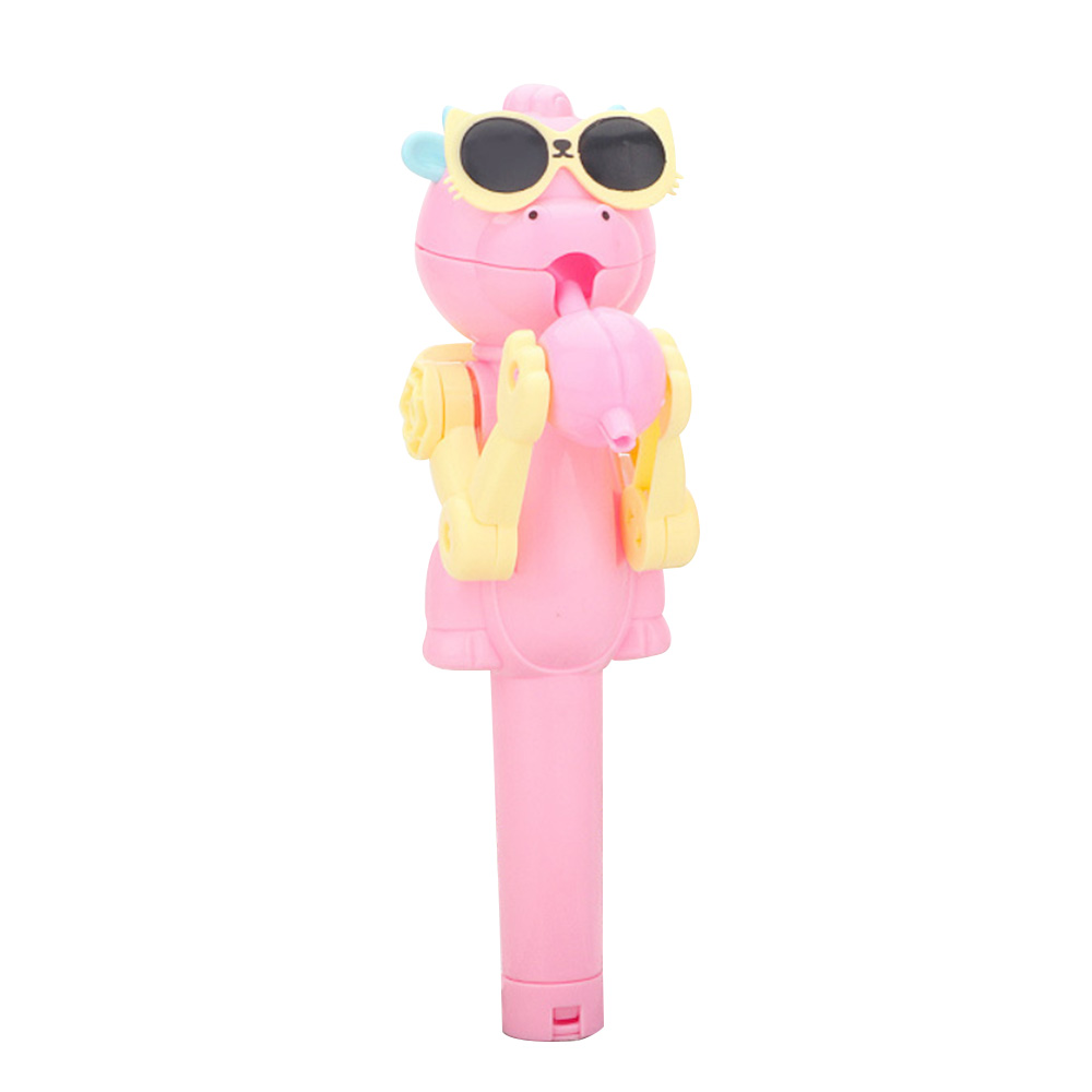Creative Design Eating Lollipop Dinosaur Lollipops Holder Stand Decompression Toys for Baby Kids Candy Dustproof Toy Gift