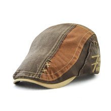 цена на JAMONT Denim Beret Caps Embroidery Flat Hat Man Woman Summer Casual Peaked Caps Jeans Cotton Berets Hats Classic Simple Flat Cap