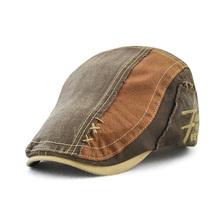 JAMONT Denim berety haft płaski kapelusz mężczyzna kobieta lato dorywczo czapki z daszkiem dżinsy bawełniane berety kapelusze klasyczne proste płaska czapka tanie tanio Bawełna Dla dorosłych Unisex Na co dzień List G13506 55-60cm 6 Colors for Choice Embroidery Spring autumn winter summer