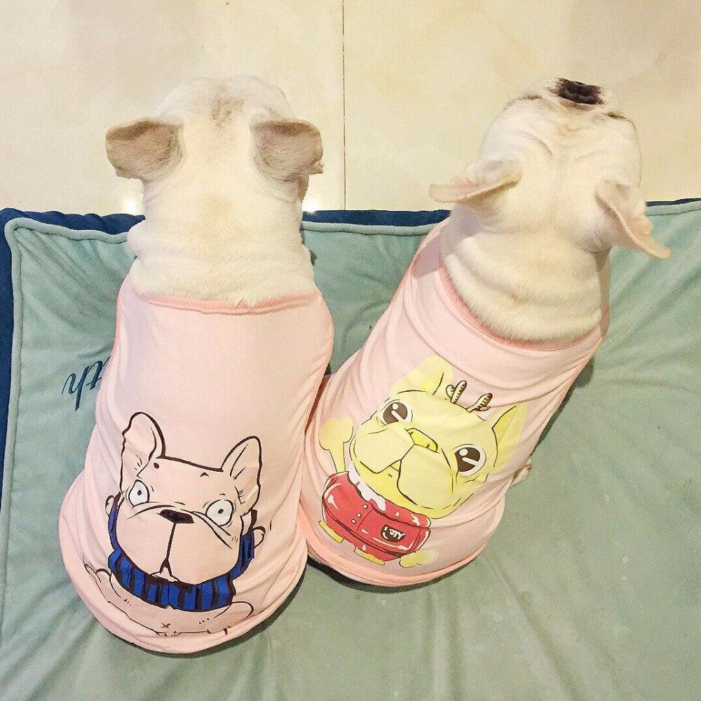 PipiFren Summer Spring Big Dogs Clothes T Shirts Vest Clothing For Pets Clothes Clothing French Bulldog Coat hondenkleding chien