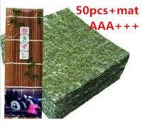 AAA Wholesale High Quality Seaweed Nori For Sushi Japanese Nori Sushi 50pcs Set Bamboo Rolling Mats