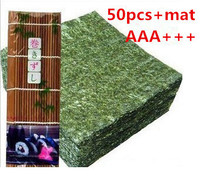 AAA+++ wholesale high Quality Seaweed,nori for sushi Japanese nori sushi ,50pcs/set +Bamboo rolling mats nori tools top selling