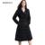 Solapa delgada Para Mujer de Invierno Pato Blanco Abajo Chaqueta Caliente escudo Negro Chaquetas Plus Tamaño Jaquetas Feminina Caliente Nuevo ropa