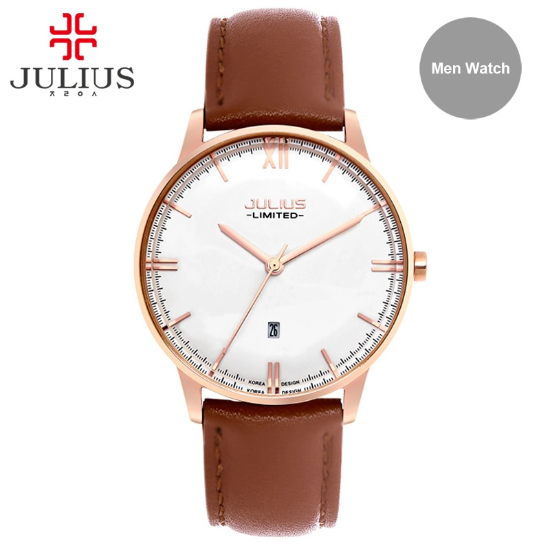 Watches Men Luxury Stainless Steel Back Waterproof Auto Date Limited Watch High Quality Miyota Movement Leather Fashion JAL-030 tevise fashion auto date automatic self wind watches stainless steel luxury gold black watch men mechanical t629a with tool