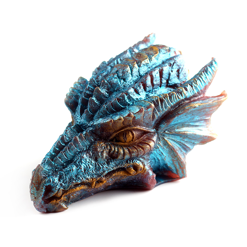 3D Dragon Silicone Soap Mold Chocolate Candy Moulds Non-stick Resin Crafts DIY Soap Making Tool