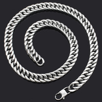 918351acbb80 CHIMDOU 8MM MIAMI Cuban Chain Necklace Men Silver Color Hip Hop Man  Stainless Steel Sport Causal