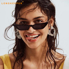 Long Keeper Vintage Sunglasses Women Cat Eye Luxury Brand Designer Sun Glasses Small Red ladies Sunglass Black Eyewear Gafas