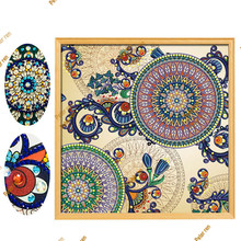 Special Shaped Diamond Painting Living Room Decoration Embroidery Full Mosaic Rhinestone icon Explosion European Flowers