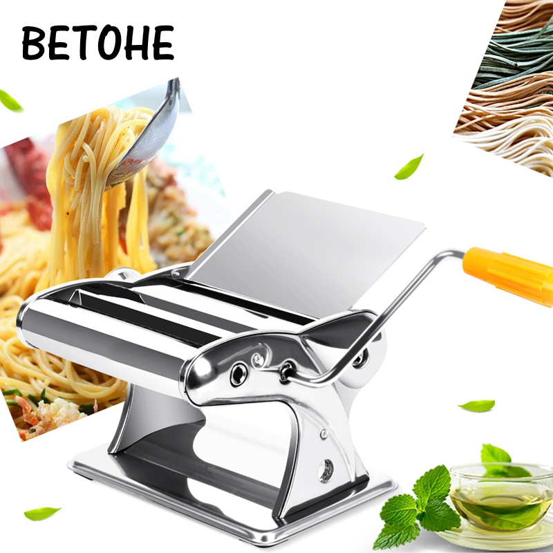 Household manual noodle maker dumplings machine kneading machine hand cranked multi function stainless steel pasta machine