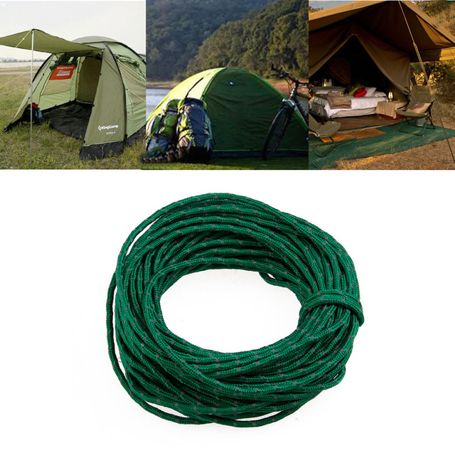 1Pc 50 Feet Tent Accessories Green Reflective Nylon Para Cord High Strength Woven Rope Tent C&ing  sc 1 st  AliExpress.com & 1Pc 50 Feet Tent Accessories Green Reflective Nylon Para Cord High ...