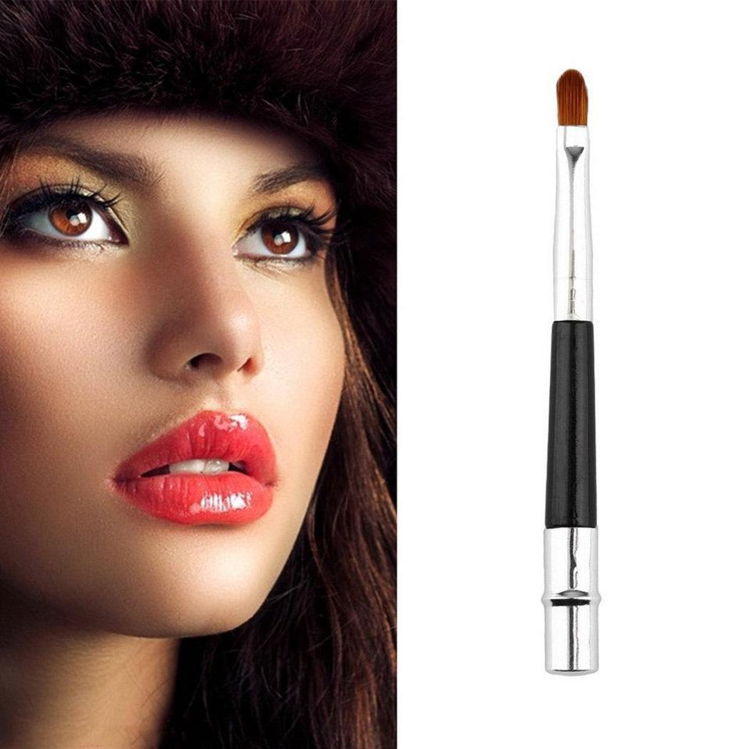 Aluminum 9inch Artificial Cosmetic 10cm Portable 3 Fiber Makeup Fashion Lip New Silver Lightweight Women Brush