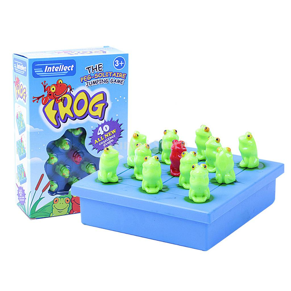 Frog The Peg Solitaire Jumping Board Game Children Intellect Chess Toys Game ...