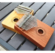 Thumb piano Kalimba 17 Keys 10 Keys Wood Mahogany Body Sapele Bamboo African Finger Percussion Keyboard Kids