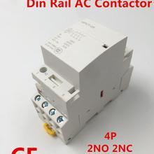 GPCT1 4P 25A 40A 63A 100A 2NC 2NO 220 V/230 V 50/60HZ Din Rail бытовой модуль модульной контактор переменного тока для домашнего отеля ресторана