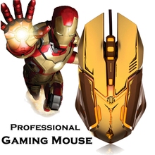 Professional Gaming Mouse 4000 DPI Wired Optical High Precision Programmable Ergonomic Gaming Mouse for PC Computer Gamer