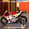 1:18 Сплава моделей мотоциклов, высокая моделирования литья металла мотоцикл игрушки, Ducati DESMOSEDICI, бесплатная доставка